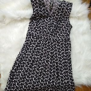 black and white dress NWT holiday party Medium